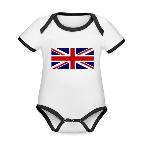 drapeau anglais - Body Bébé bio contrasté manches courtes