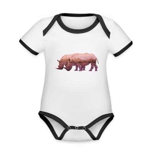 Nashorn Alpen - Baby Bio-Kurzarm-Kontrastbody