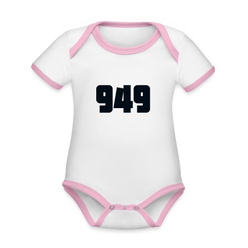 949black - Baby Bio-Kurzarm-Kontrastbody