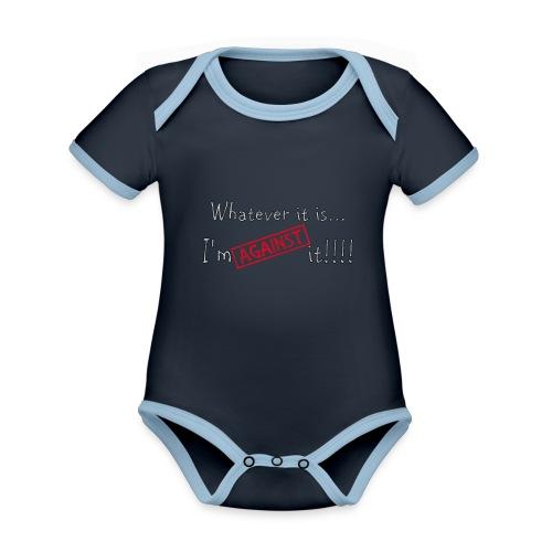 Against it - Organic Baby Contrasting Bodysuit
