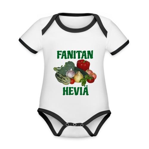 Fanitan heviä - Vauvan kontrastivärinen, lyhythihainen luomu-body