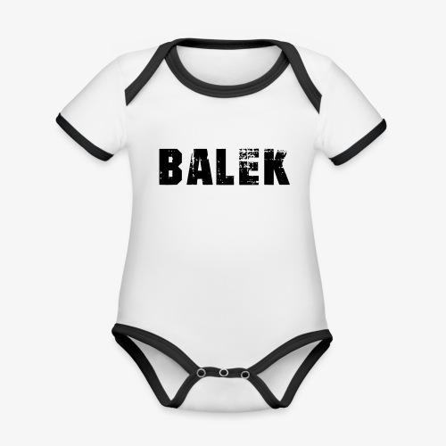 BALEK - Body Bébé bio contrasté manches courtes