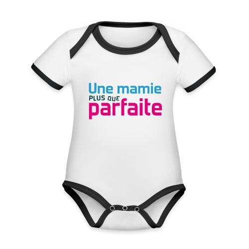 Uen mamie plus que parfaite - Body Bébé bio contrasté manches courtes
