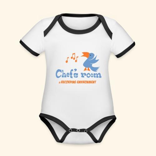 chefs room - Vauvan kontrastivärinen, lyhythihainen luomu-body