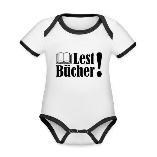 Lest Bücher ! 2 - Baby Bio-Kurzarm-Kontrastbody