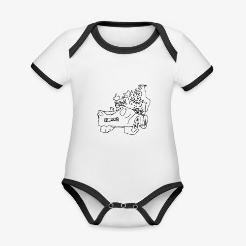 gova dinos - Body Bébé bio contrasté manches courtes