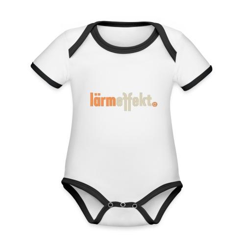 lärmeffekt Schriftzug normal - Baby Bio-Kurzarm-Kontrastbody