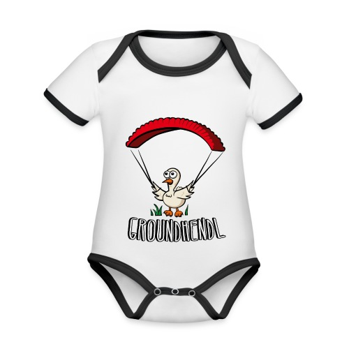 Groundhendl Paragliding Huhn - Baby Bio-Kurzarm-Kontrastbody