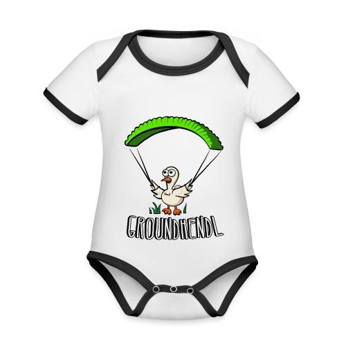 Groundhendl Groundhandling Hendl - Baby Bio-Kurzarm-Kontrastbody