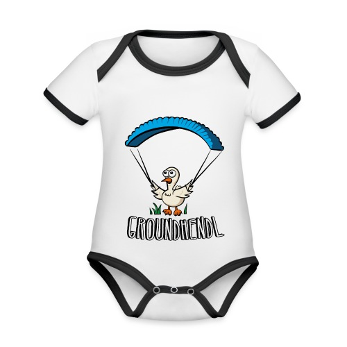 Groundhendl Groundhandling Hendl Paragliding Huhn - Baby Bio-Kurzarm-Kontrastbody