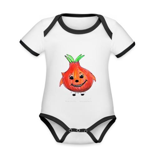 mens black T-shirt Ollie the Onion - Organic Baby Contrasting Bodysuit