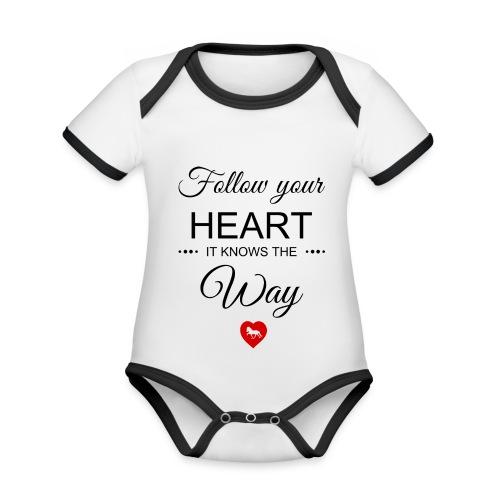 follow your heartbesser - Baby Bio-Kurzarm-Kontrastbody