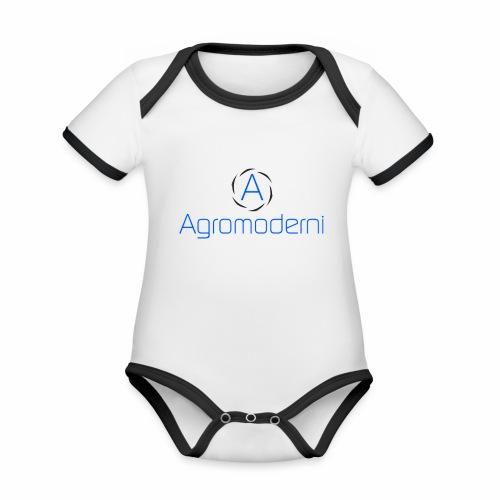Logo png - Body da neonato a manica corta, ecologico e in contrasto cromatico