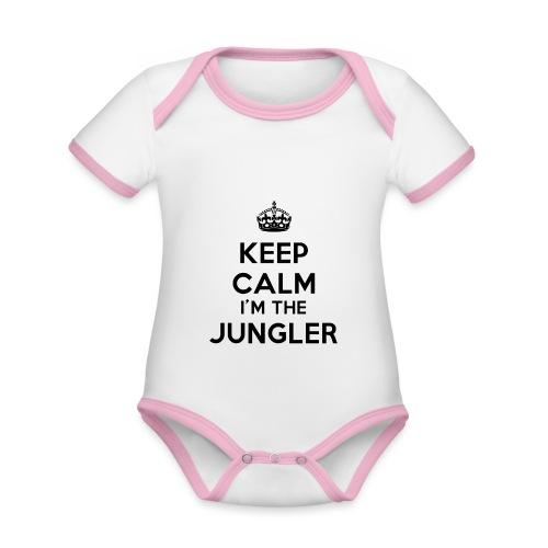 Keep calm I'm the Jungler - Body Bébé bio contrasté manches courtes