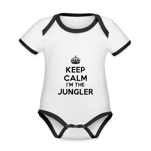 Keep calm I'm the Jungler - Body Bébé bio contrasté manches courtes