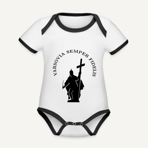 varsoviasf - Ekologiczne body niemowlęce z krótkim rękawem i kontrastowymi lamówkami