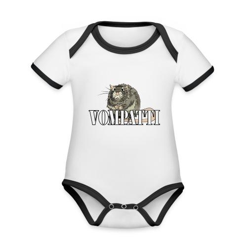 Vompatti - Vauvan kontrastivärinen, lyhythihainen luomu-body