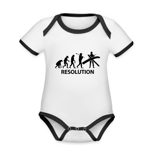 Resolution Evolution Army - Organic Baby Contrasting Bodysuit
