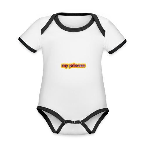 my peincess - Organic Baby Contrasting Bodysuit