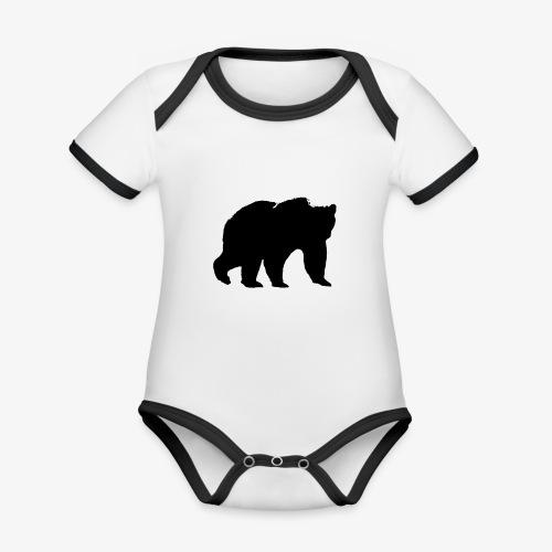 alouci - Ekologisk kontrastfärgad kortärmad babybody