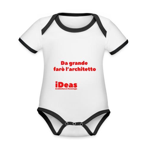 da grande - Body da neonato a manica corta, ecologico e in contrasto cromatico