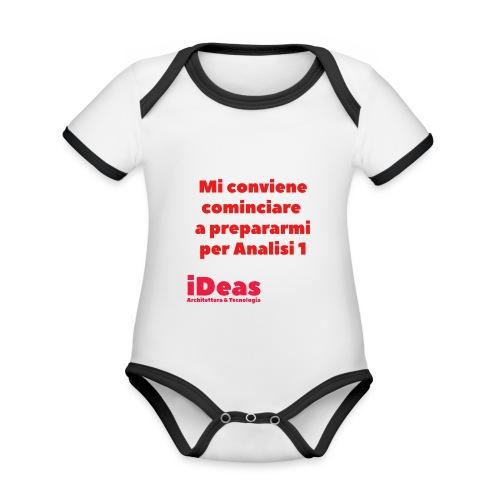 mi conv - Body da neonato a manica corta, ecologico e in contrasto cromatico