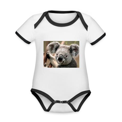 Koala - Body Bébé bio contrasté manches courtes
