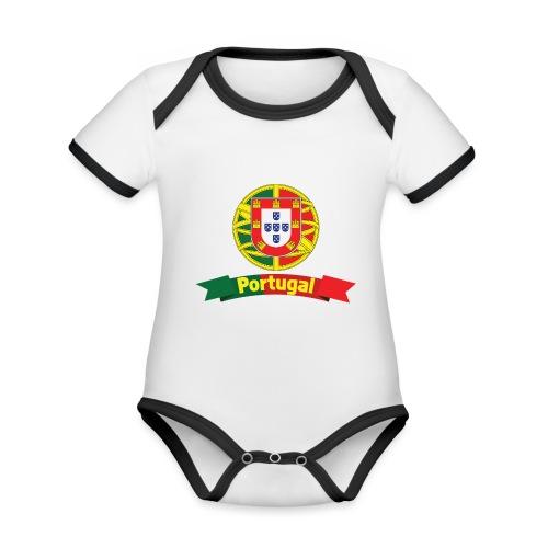 Portugal Campeão Europeu Camisolas de Futebol - Organic Baby Contrasting Bodysuit
