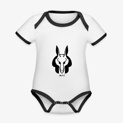 Anubi Soggetto1 - Body da neonato a manica corta, ecologico e in contrasto cromatico