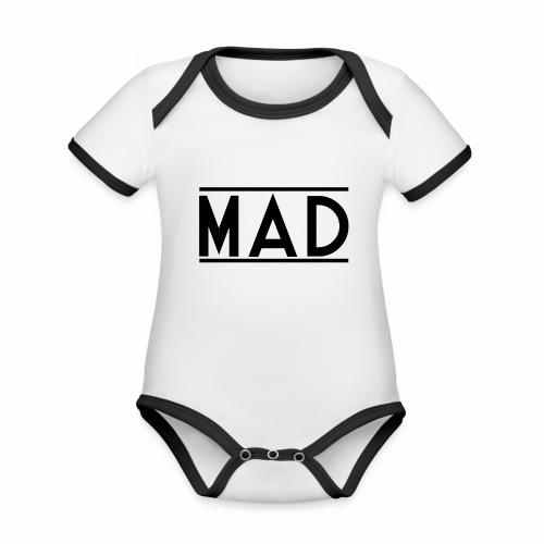 MAD - Body da neonato a manica corta, ecologico e in contrasto cromatico