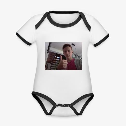 Leman974 homme - Body Bébé bio contrasté manches courtes