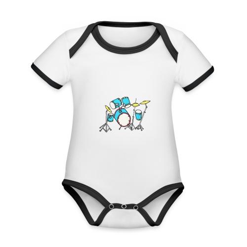 Luigi Drum White - Organic Baby Contrasting Bodysuit