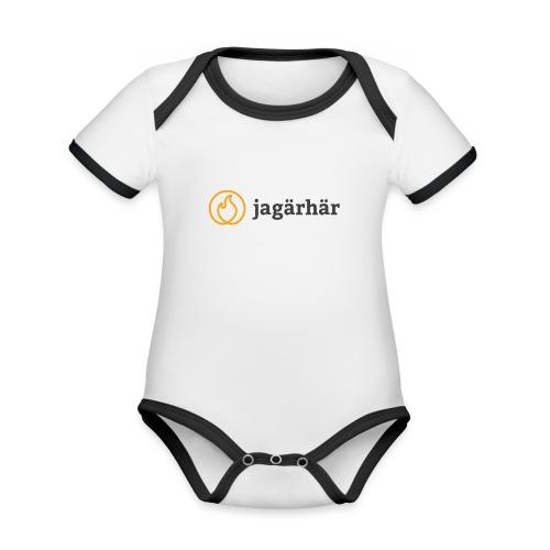 #jagärhär - Ekologisk kontrastfärgad kortärmad babybody