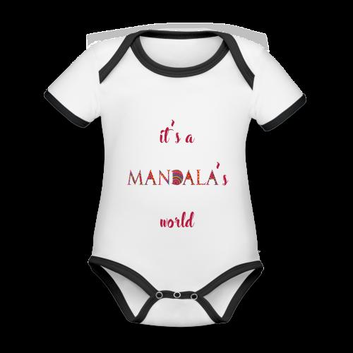 It's a mandala's world - Organic Baby Contrasting Bodysuit
