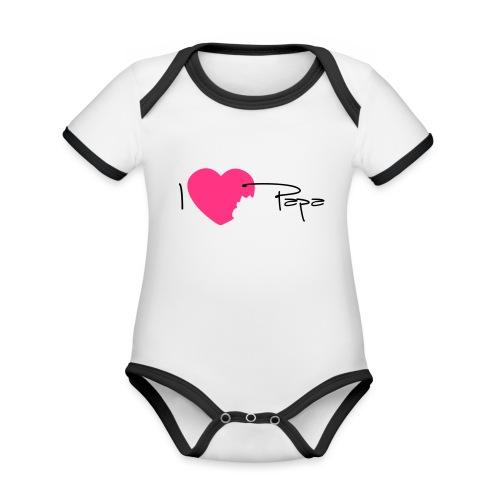 I love Papa 13 Vecto - Body Bébé bio contrasté manches courtes