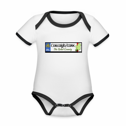 CO. CORK, IRELAND: licence plate tag style decal - Organic Baby Contrasting Bodysuit