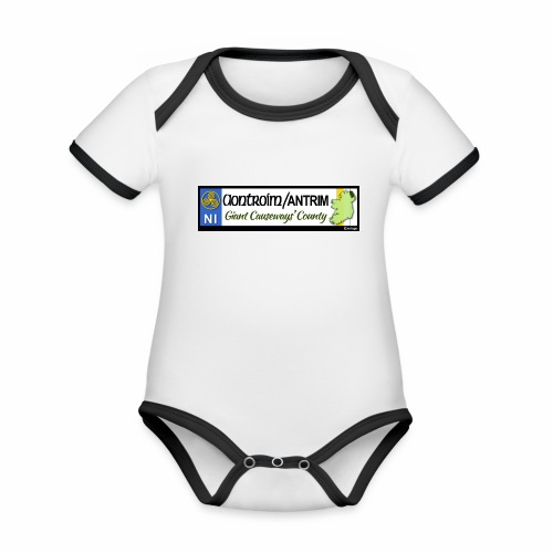 CO. ANTRIM, NORTHERN IRELAND licence plate tags - Organic Baby Contrasting Bodysuit