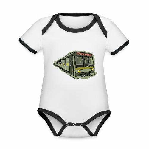 Urban convoy - Body da neonato a manica corta, ecologico e in contrasto cromatico