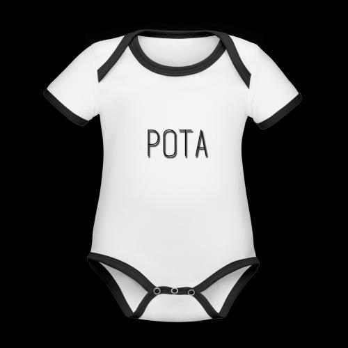 pota2 - Body da neonato a manica corta, ecologico e in contrasto cromatico
