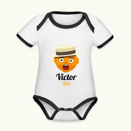 Victor (Le monde des Pawns) - Body Bébé bio contrasté manches courtes