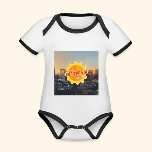 California Spirit City - Body Bébé bio contrasté manches courtes