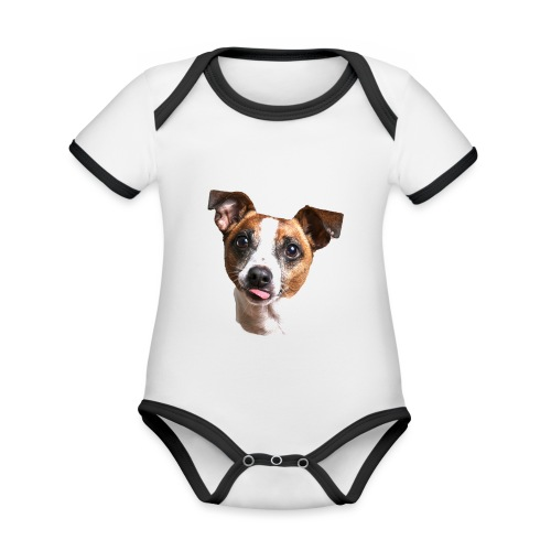 Jack Russell - Organic Baby Contrasting Bodysuit
