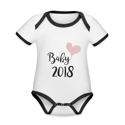 Baby 2018 - Baby Bio-Kurzarm-Kontrastbody