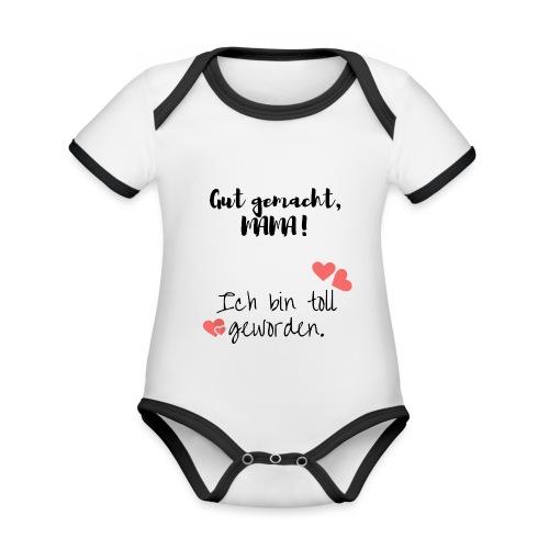 Ich bin toll geworden - Baby Bio-Kurzarm-Kontrastbody