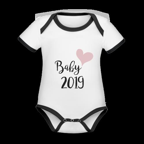 Baby 2019 - Baby Bio-Kurzarm-Kontrastbody