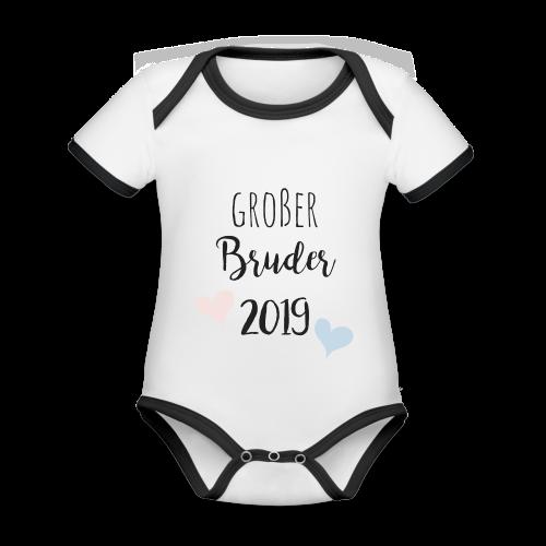 Großer Bruder 2019 - Baby Bio-Kurzarm-Kontrastbody