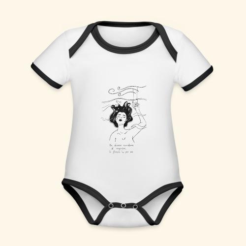 Se dovessi scordarmi di respirare - Body da neonato a manica corta, ecologico e in contrasto cromatico