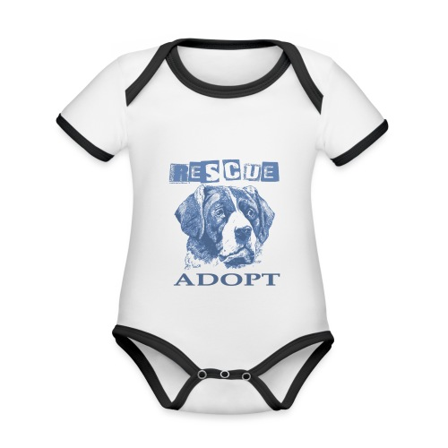 Rescue adopt - Body contraste para bebé de tejido orgánico