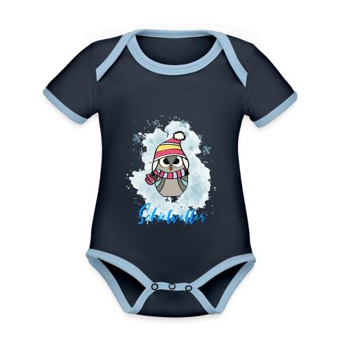 Schietwetter Design - Baby Bio-Kurzarm-Kontrastbody