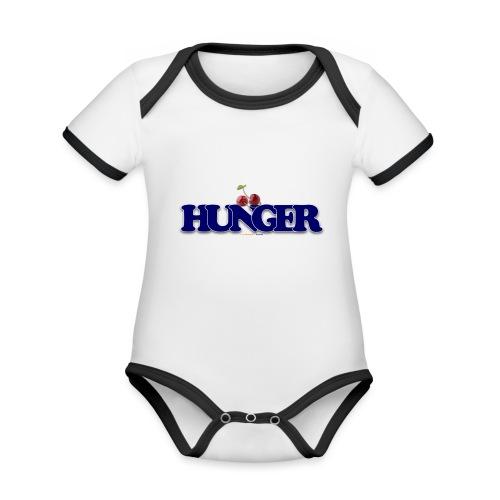 TShirt Hunger cerise - Body Bébé bio contrasté manches courtes
